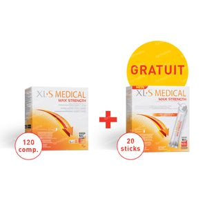 XLS Medical Max Strength 120 Tabletten + 20 Sticks GRATIS 1 set