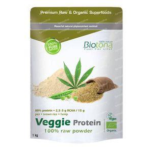 Biotona Veggie Protein Raw Bio 1 kg poudre