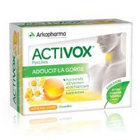 Activox Pastillen Honig-Zitrone ohne Zucker Neue Formel 24  lutschpastillen