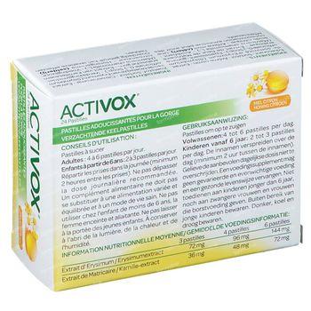 Activox Pastilles Miel-Citron Sans sucre Nouvelle Formule 24 comprimés à sucer