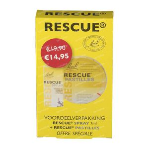 Bach Bloesem Rescue Spray  7ml + Rescue Pastilles 50g Promo Pack 1 stuk