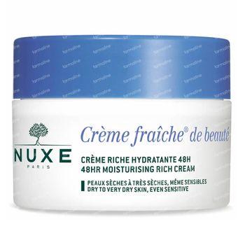 Nuxe Crème Fraîche De Béaute 48h Voedende En Hydraterende Rijke Crème 50 ml