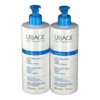 Uriage Xémose Feuchtigkeitsspendende Milch 2e mit -50% 2x500 ml
