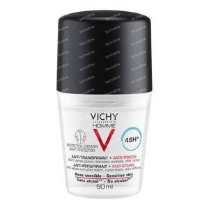 Vichy Homme Deodorant Anti-Transpiratie tegen Vlekken 48h 50 ml roller