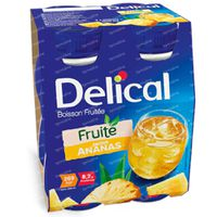 Delical Fruit Drink Pineapple 4 x 200 ml