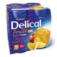 Delical Fruit Drink Multi 4 x 200 ml