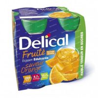 Delical Fruit Drink Orange Sweetened 4 x 200 ml