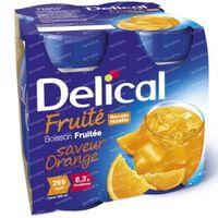 Delical Fruit Drink Orange 4 x 200 ml