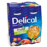 Delical Fruit Drink Apple 4 x 200 ml