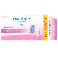 Physiologica Isonasal + 10 Ampoules GRATIS 50+10  ampoules