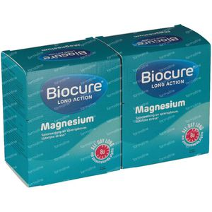 Biocure Magnesium Long Action +30 Tabletten GRATIS 90+30 tabletten