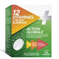 Nutrisanté 12 Vitamines + 7 Oligo-Éléments 24  comprimés effervescents