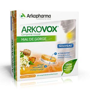Arkovox Dolor de Garganta 20 comprimidos de succion