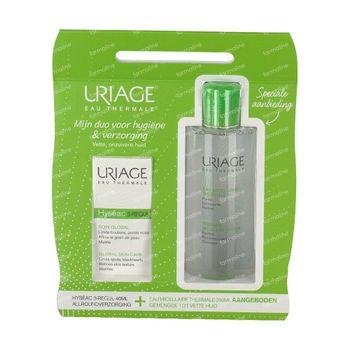 Uriage Hyséac 3-Regul Globale Versorgung + Mizellares Wasser Fettige & Gemischte Haut GRATIS 40+250 ml