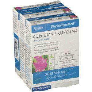 Phytostandard Curcuma + 20 Kapseln GRATIS 40+20 kapseln