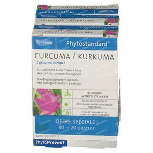 Phytostandard Curcuma + 20 Capsules GRATIS 40+20 capsules