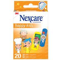 3M Nexcare Happy Kids Professions 20 Pantsements Assortiment N0920PR 20  pansements