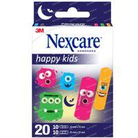 3M Nexcare Happy Kids Monsters Assortiment 20  pleisters