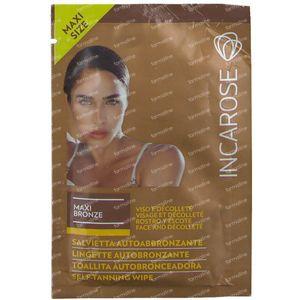 Incarose Maxi Bronze Lingette Autobronz Visage & Decollete 1 item