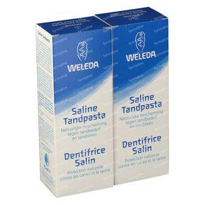 Weleda Tandpasta Saline Blauw Duo 2x75 ml