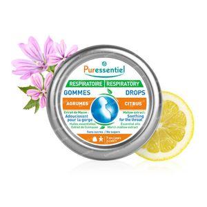 Puressentiel Atmung Kehle Gummi Zitrusfrucht 45 g