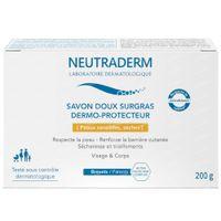Neutraderm Dermo-Protect Zachte Overvette Zeep 200 g