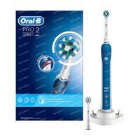 Oral B Pro 2 2700 Elektrische Tandenborstel Blauw 1  set