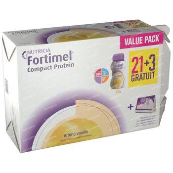 Fortimel Compact Protein Vanille 21+3 GRATIS 24x125 ml
