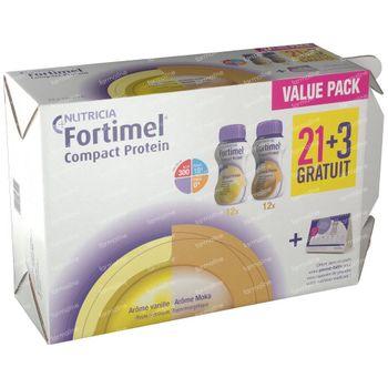 Fortimel Compact Protein Vanille/Mokka 21+3 GRATIS 24x125 ml