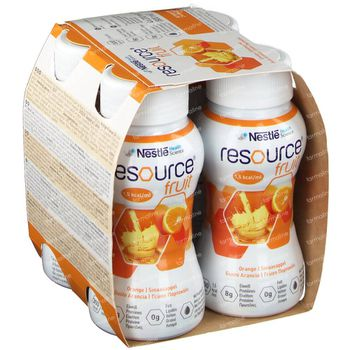 Resource Fruit Orange 4x200 ml