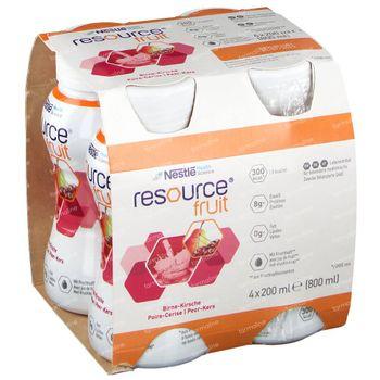 Resource Fruit Birne/Kirschen 4x200 ml