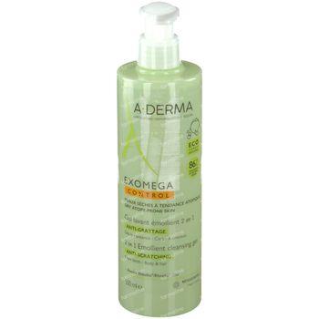 A-Derma Exomega Control Gel Lavant Corps & Cheveux 500 ml