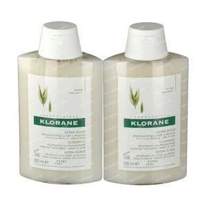 Klorane Shampoo Havermelk Duo 2e Aan -30% 2x200 ml