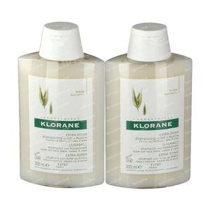Klorane Shampooing Lait D'Avoine Duo 2e à -30% 2x200 ml