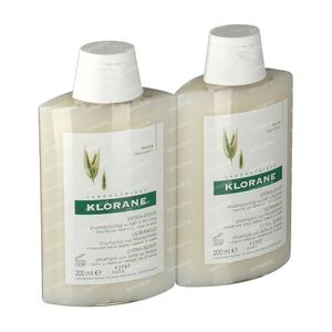 Klorane Shampoo Oats Milk Duo 2e At -30% 2x200 ml