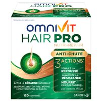 Omnivit Hair Pro Nutri Repair - Anti-Chute Cheveux 120  comprimés