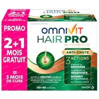 Omnivit Hair Pro Nutri Repair + 60 Comprimés GRATUIT - Anti-Chute Cheveux 120+60  comprimés