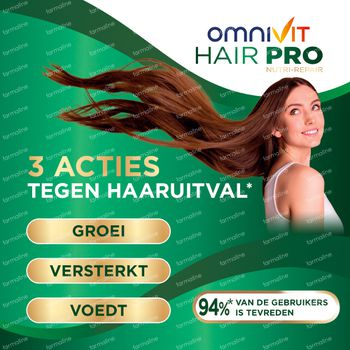 Omnivit Hair Pro Nutri Repair + 60 Tabletten GRATIS - Voor Haargroei 120+60 tabletten