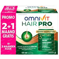 Omnivit Hair Pro Nutri Repair + 60 Tabletten GRATIS - Tegen Haaruitval 120+60  tabletten