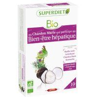 Superdiet Complexe Digestion Radis Noir - Chardon Marie - Artichaut - Romarin Bio 20x15 ml