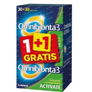 Omnibionta 3 Activate 1+1 GRATIS 30+30 tabletten