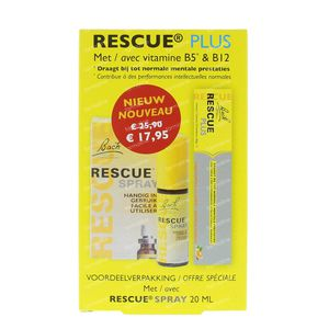 Bach Bloesem Rescue Spray 20 ml + 10 Rescue Plus Pastilles GRATUIT 1 set