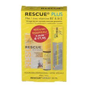 Bach Bloesem Rescue Spray 20 ml + GRATIS 10 Rescue Plus Bonbons 1 set