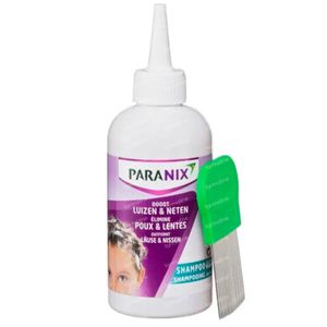 Paranix Behandelingsshampoo tegen Hoofdluizen en Neten 200 ml + Kam 1 set
