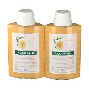 Klorane Ernährungsshampoo Mit Mango Duo 2e At -30% 2x200 ml
