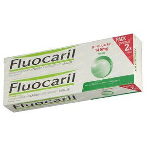 Fluocaril Dentifrice Bi-Fluoré 145 Menthe Duo 2x75 ml