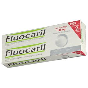 Fluocaril Tandpasta Bi-Fluoré 145 White Duo 2x75 ml
