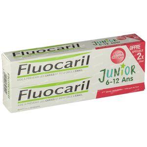 Fluocaril Dentifrice Junior Fruits Rouges Duo 2x75 ml