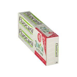 Fluocaril Tandpasta Junior Rood Fruit Duo 2x75 ml