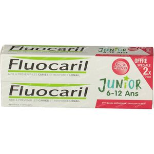 Fluocaril Toothpaste Junior Red Fruits Duo 2x75 ml
